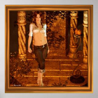 Golden Evening Fantasy Art Poster