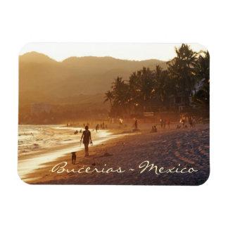 Golden Evening on Bucerias Beach Mexico Magnet