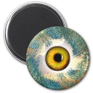 Golden Eye II 2 Inch Round Magnet