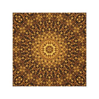Golden Eye Mandala Canvas Print