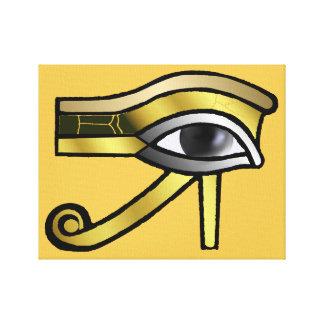 Golden Eye of Horus Canvas Print