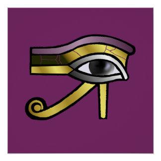 Golden Eye of Horus Poster