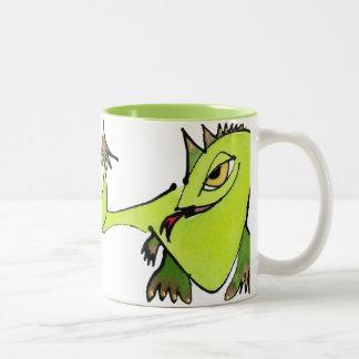 Golden Eyed Dragons Two-Tone Coffee Mug