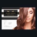 """Golden Eyelashes with Black and White Stripes Flyer<br><div class=""""desc"""">Coordinates with the Golden Eyelashes with Black and White Stripes Business Card Template by 1201AM. A bold striped black and white background creates visual interest behind a nameplate containing a pair of faux gold eyelashes and your name or business name. Personalize this flyer for your own promotion or offering. The...</div>"""