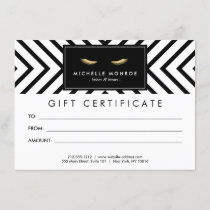 Golden Eyelashes with Pattern Gift Certificate