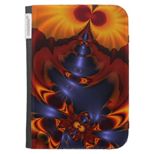 Golden Eyes, Abstract Amber Enchantment Kindle Case