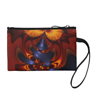 Golden Eyes, Abstract Amber Enchantment Coin Purse