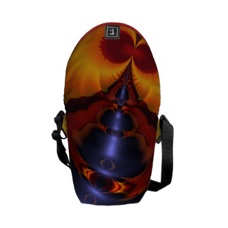 Golden Eyes, Abstract Amber Enchantment Courier Bag