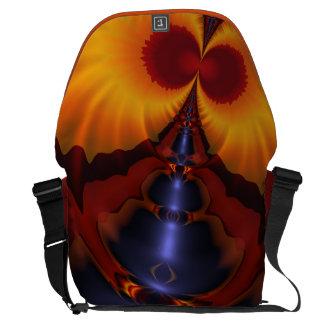 Golden Eyes, Abstract Amber Enchantment Messenger Bag