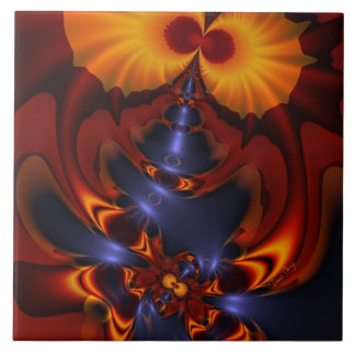 Golden Eyes – Amethyst & Amber Enchantment Ceramic Tile