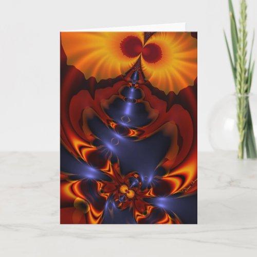 Golden Eyes – Amethyst & Amber Enchantment Holiday Card