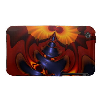 Golden Eyes – Amethyst & Amber Enchantment iPhone 3 Cover