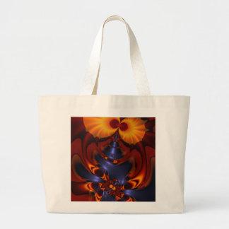 Golden Eyes – Amethyst & Amber Enchantment Large Tote Bag