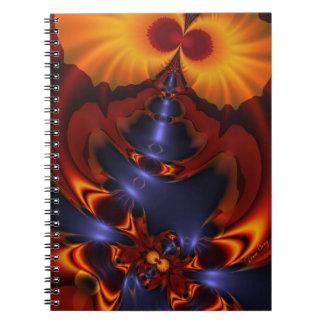 Golden Eyes – Amethyst & Amber Enchantment Spiral Note Book