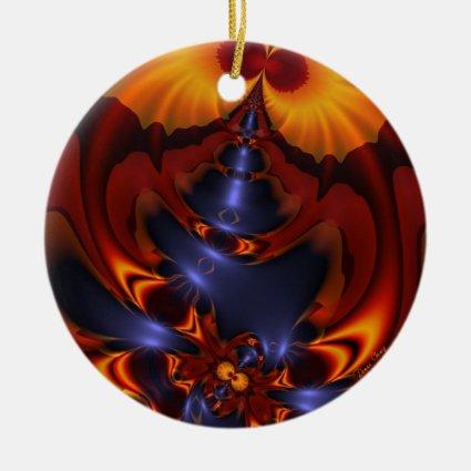Golden Eyes – Amethyst & Amber Enchantment Christmas Ornament