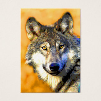 Golden Eyes (Wolf) ACEO Art Trading Cards
