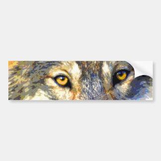Golden Eyes (Wolf) Bumper Sticker