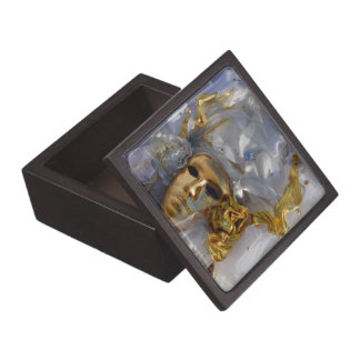 Golden Face Jewelry Box