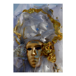 Golden Face Posters