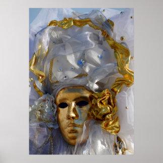 Golden Face Poster