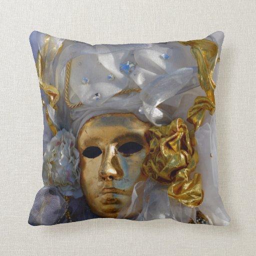 Golden Face Throw Pillow Zazzle