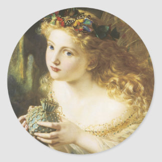 Golden Faerie Classic Round Sticker