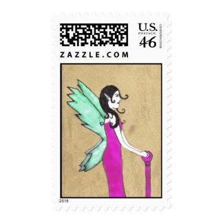 golden fairy postage stamp