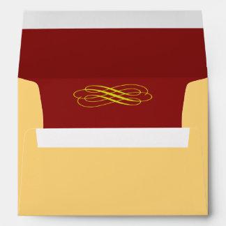 Golden Fairy Tale Wedding Invitation Envelope