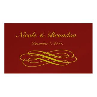 Golden Fairy Tale Wedding Website Card Business Card
