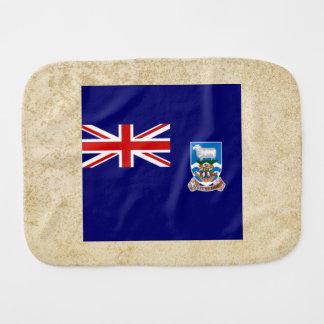 Golden Falkland Islands Flag Burp Cloths