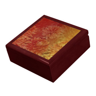 Golden Fall Floral Gift Box