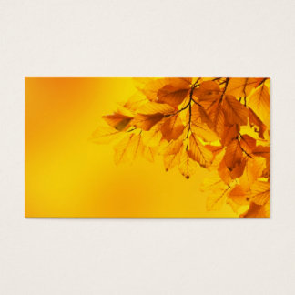 Golden Fall Leaves Background Business Card