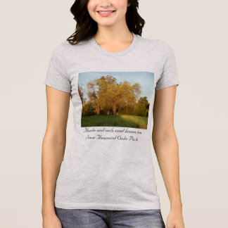 Golden fall Thousand Oaks Park tree T-Shirt