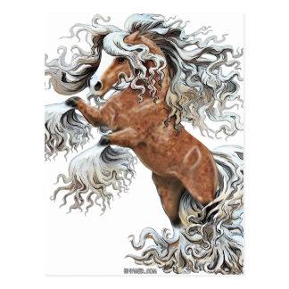 golden fantasy horse postcard