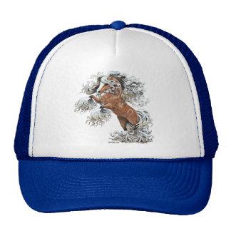 golden fantasy horse trucker hat