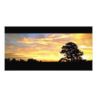 Golden Farm Sunrise Card Photo Card