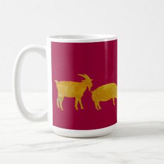 Golden Farmyard Parade. Coffee Mug