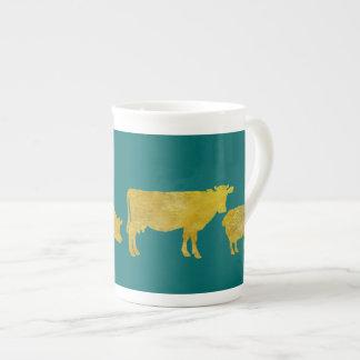 Golden Farmyard Parade. Tea Cup