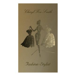 Golden Fashion Stylist Business Card Template