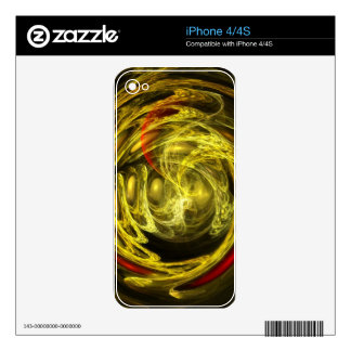Golden Feathers iPhone 4S Decals