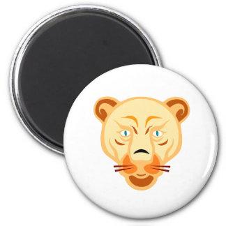 Golden Female Loin 2 Inch Round Magnet