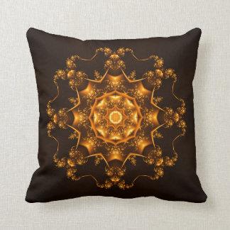 Golden fibula throw pillow