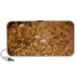 Golden field and wildflowers notebook speaker