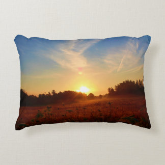 Golden Field Greetings Decorative Pillow
