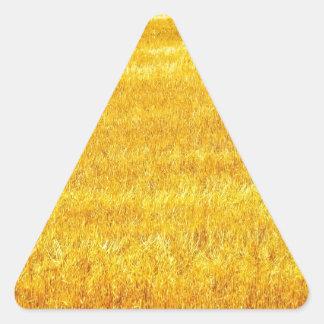 Golden Field of Grain Triangle Sticker