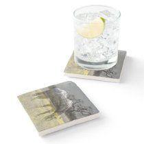 Golden Field Stone Coaster