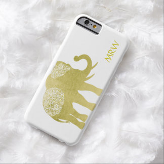 Golden Filigree Elephant Barely There iPhone 6 Case