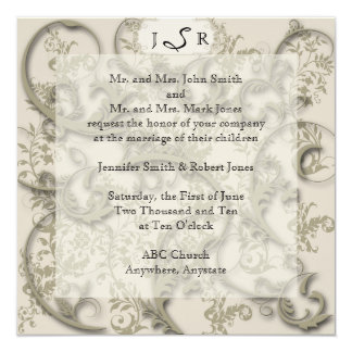 Golden Filigree Style Announcements
