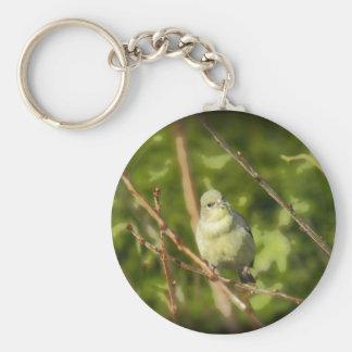 Golden Finch Simplified Keychain
