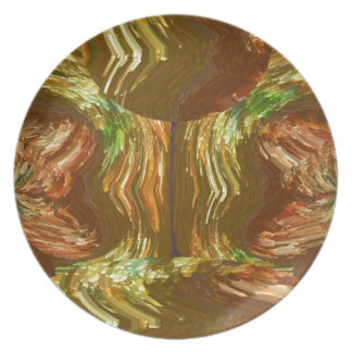 GOLDEN FIRE FLAMES Decoration Healing Energy GIFT Party Plate